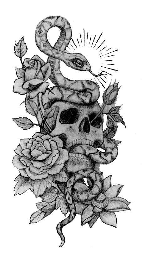 skull snake  roses tattoo designs tattoos skull hand tattoo hand tattoos skull tattoos