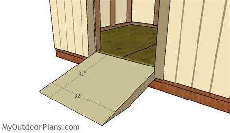 shed door  ramp plans myoutdoorplans
