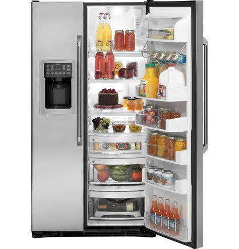 ge cafe series  cu ft counter depth side  side refrigerator cscpugxss ge appliances