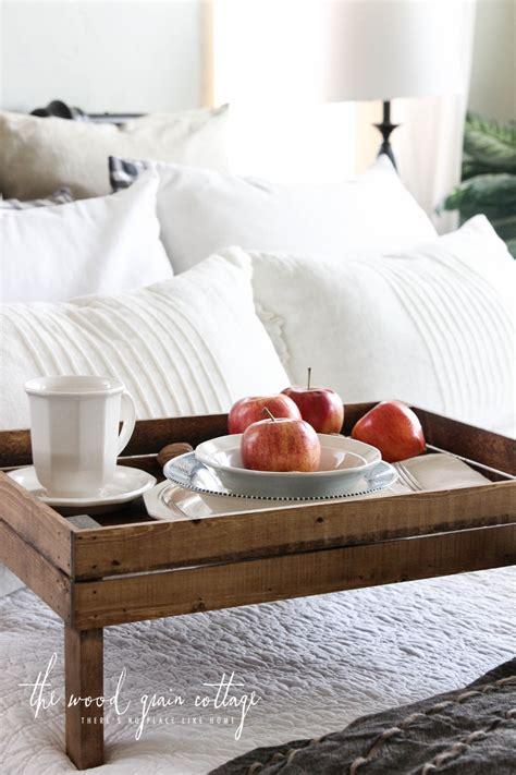 breakfast  bed tray  wood grain cottage shop