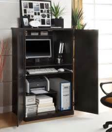 Solid Wood Filing Cabinet by Corner Computer Armoires For Small Space