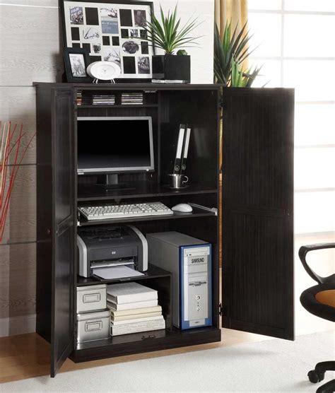 bureau armoire corner computer armoires for small space