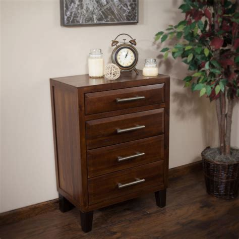 dresser drawer organizer bedroom furniture brown mahogany solid wood four drawer