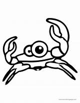 Coloring Crab Cartoon Sweety Cuttle Animal Pretty sketch template