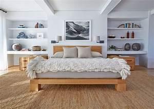 Lit futon et lit plateforme pour chambre adulte contemporaine for Meuble de salle a manger avec lit futon