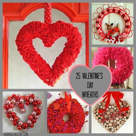 25 Valentine's Day Wreaths {diy Decor}