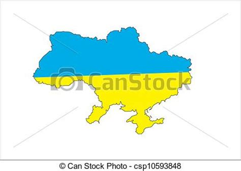 eps vector  map  ukraine  countries borders blue