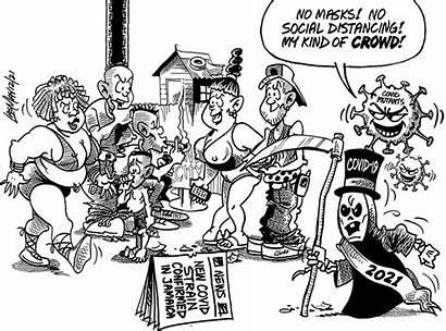 2021 Jamaica Gleaner January Monday Cartoon Cartoons