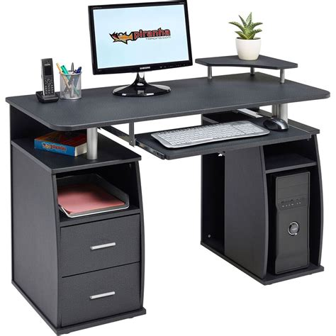 computer desk with shelves cupboard drawers home office piranha tetra pc 5g ebay