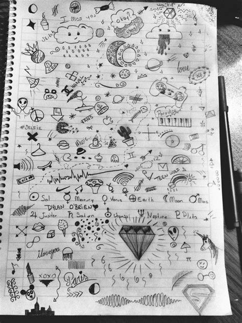 cute notebook doodles tumblr - Google Search | drawings | Pinterest | Notebook doodles, Doodles