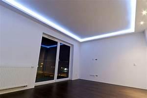Led light plasterboard vcut