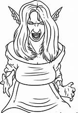 Vampire Coloring Pages Female Printable Vampires Halloween Anime Draw Scary Step Drawing Cartoon Dracula Blood Colorings sketch template