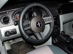 Ford mustang leather steering wheel cover