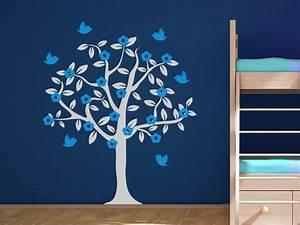 Wandtattoo Baum Kinder : wandtattoo baum mit bl ten und v geln wandtattoo de ~ Whattoseeinmadrid.com Haus und Dekorationen