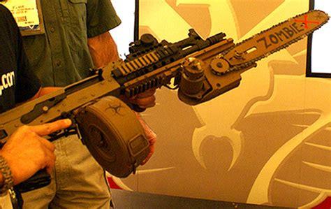 zombie chainsaw bayonet rifle assault hunting gun geekologie