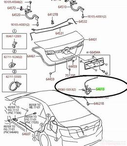 Genuine Toyota Oem Trunk Latch Assembly Camry Avalon 2012