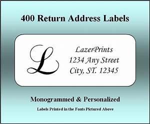 monogrammed personalized return address labels 400 With custom photo return address labels