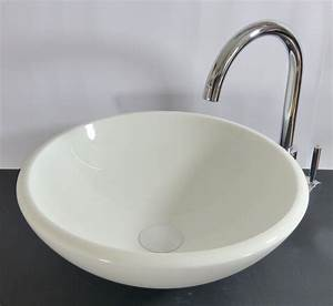 Waschbecken Glas Rund : nero badshop aufsatz stein glas waschbecken rund wei phoenix online kaufen ~ Markanthonyermac.com Haus und Dekorationen
