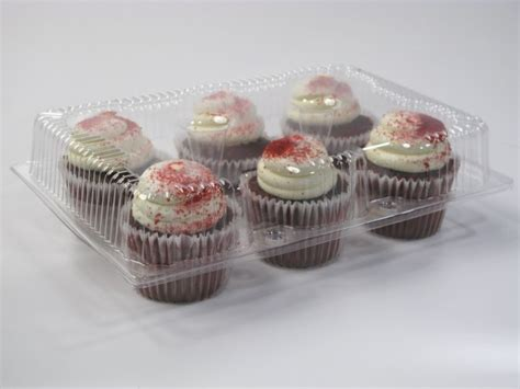 cavity cupcake containers  standard lid case