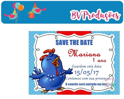 Save The Date Digital-galinha Pintadinha