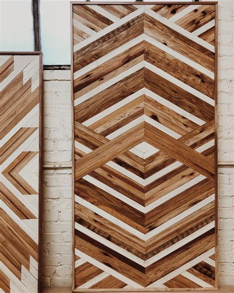 Oak real wood wall paneling add elegance to your interior walls. 6x3 Rectangle Three Dimensional Natural and White in 2020 | Panel wall art, Wood wall art, Wood art