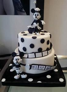 Black and white Minnie an Micky cake | crafts for the kids ...