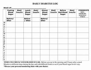 Printable Diabetic Food Log Sheets Diabetic Recipes