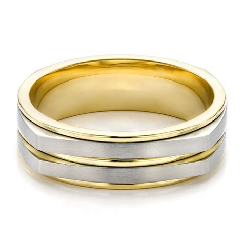 Mens Two Tone Wedding Rings luxury ? navokal.com