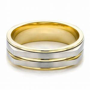 men39s two tone wedding band 100153 With wedding rings two tone