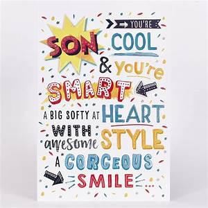 Buy Signature Collection Birthday Card Son Cool Smart
