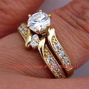 Real genuine solid 9k yellow gold engagement wedding rings for Real wedding ring