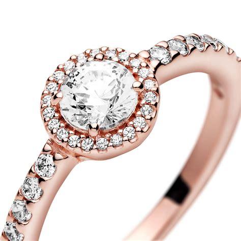 Pandora Rose™ Classic Sparkle Halo CZ Ring - 188861C01 ...