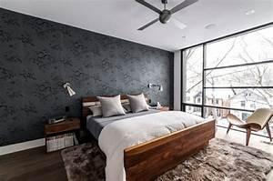 Schlafzimmer In Brauntönen : tapete in schwarz f r die wandgestaltung 40 ideen tipps ~ Sanjose-hotels-ca.com Haus und Dekorationen