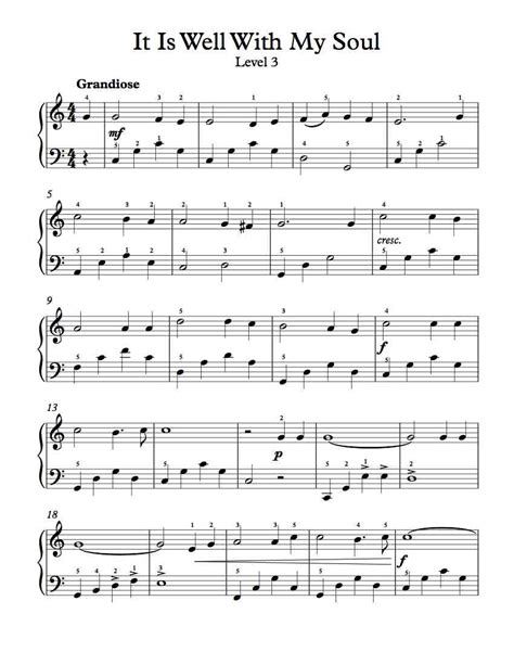 free piano arrangement sheet music it is well with my soul michael kravchuk