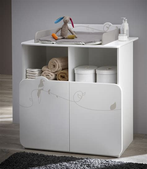 commode 224 langer contemporaine blanche woody commode chambre bebe chambre