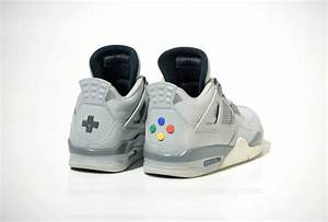 Limited edition Super Nintendo Air Jordan 4 sneakers from ...