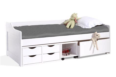 lit blanc laque pas cher lit enfant miliboo lit enfant 224 tiroirs 90x190 pin laqu 233 blanc cleo ventes pas cher