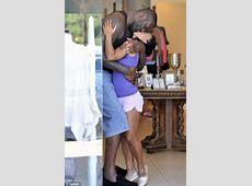 Shaquille O'Neal and tiny Nicole 'Hoopz' Alexander