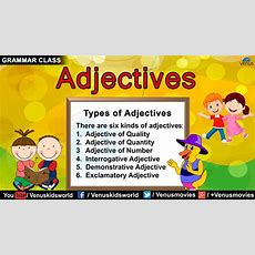 Grammar Class  Adjectives  Quality Quantity Number Youtube