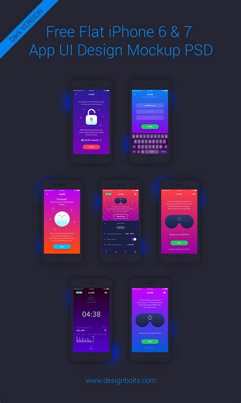 July 21, 2019july 21, 2019. Free iPhone 6 & 7 App UI Design Screen Mockup PSD