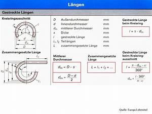 Aus Durchmesser Umfang Berechnen : biegeradius rohr formel metallteile verbinden ~ Themetempest.com Abrechnung