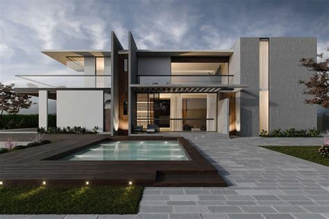 Modern Style Architectural Renders by Modern Villa Exterior 3d Visualization By Archicgi