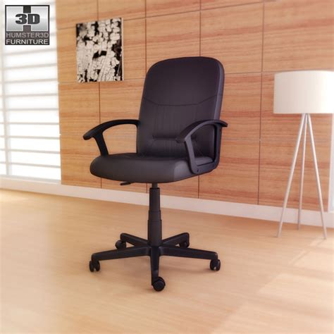 ikea moses swivel chair 3d model humster3d