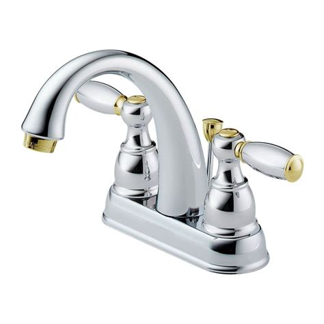 delta brass faucet delta brass and chrome bathroom faucet