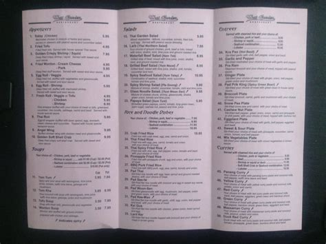 thai garden menu menu yelp