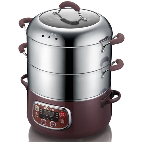 free shpping 4 layers stainless popular stainless steel electric food steamer buy cheap