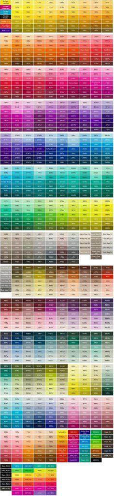 pantone color chart paint palettes pms color chart and