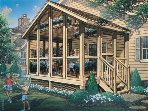 House Plans With Screened Porches by Autumn Screened Porch Plan 002d 7502 House Plans