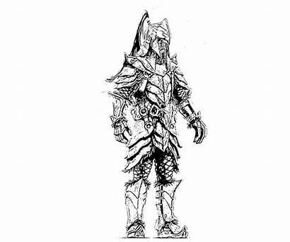 Skyrim Coloring Orc Armor Scrolls Elder Scroll