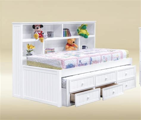 bianca white full size bookcase bed bedrooms bookcase
